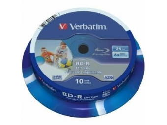 Verbatim BD-R Blu-ray 25GB PRINTABLE 6x cake box (bal=10ks) 43751