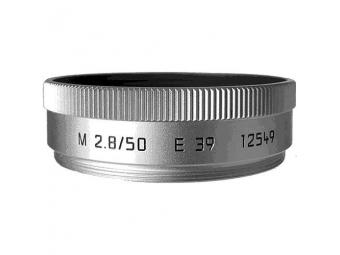 LEICA slnečná clona pre objektív M 50/f2.8 silver