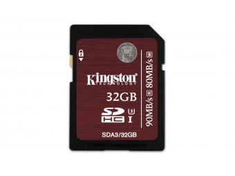 Kingston 32GB SDHC card UHS-I U3 90/80MB/s