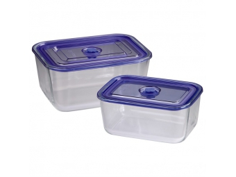 Xavax 111531 sklenené nádoby, hranaté, 1500 ml + 3050 ml, 2 ks