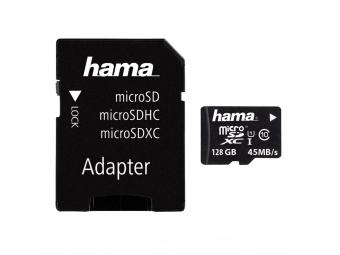 Hama 114845 microSDXC 128GB Class 10 UHS-I 45MB/s + Adapter/Mobile