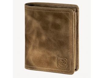 Hama 124984 Pánska kožená peňaženka  s ochranou dát CRYPTALOY  H1C, 1923 Mailand, svetlá hnedá