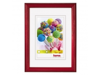 Hama 125393 drevený rám Candy, červený, 10x15 cm