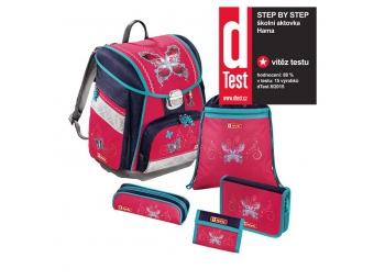 Step by Step 129071 Školský ruksak - 5-dielny set Motýľ, certifikát AGR