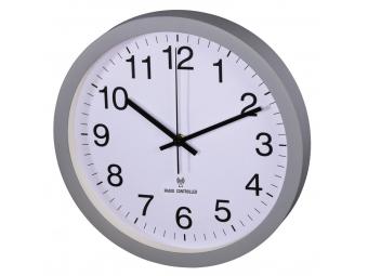Hama 136219 nástenné hodiny PG-300, riadené rádiovým signálom, tichý chod, šedé