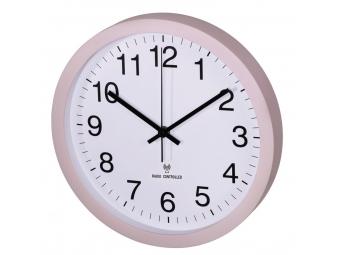 Hama 136220 nástenné hodiny PG-300, riadené rádiovým signálom, tichý chod, telové