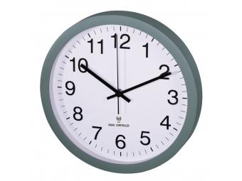 Hama 136221 nástenné hodiny PG-300, riadené rádiovým signálom, tichý chod, zelené