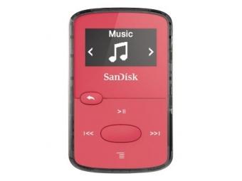 SanDisk MP3 Sansa Clip JAM 8 GB svetlá ružová