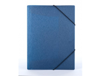 "Panta Plast Obal na dokumenty PP A4 s gumičkou 15mm ""Simple"" metál.modrá"