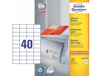 Avery Etikety univerzálne 52,5x29,7 mm (bal=100hár)