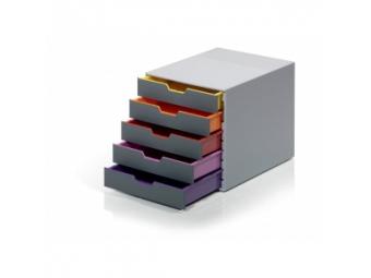 Durable Varicolor Zásuvkový box,5 zásuviek