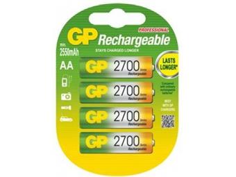 GP nabíjateľné batérie GP AA 2700 NiMH 4ks