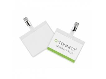 Q-Connect Visačka so štipcom zatvorená 90x60mm (bal=25ks)