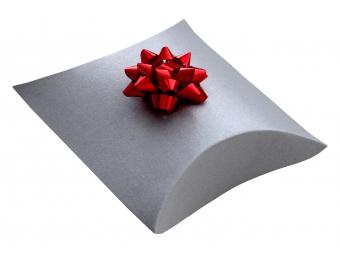 Darčekové balenie do krabičky pukačky, strieborná perleť 75x110x35 mm