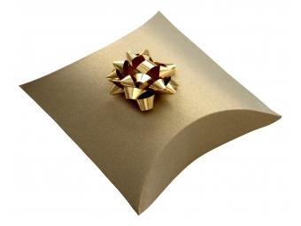 Darčekové balenie do krabičky pukačky, zlatá perleť 75x110x35 mm