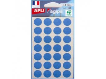 AGIPA Etikety kruhové na A5 15mm modré (bal=6hár,168ks)