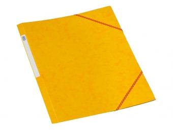 Bantex 3400 Dosky na dokumenty A4 prešpán,3 chlopne s gumičkou, žlté