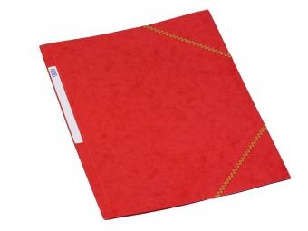 Bantex 3400 Dosky na dokumenty A4 prešpán,3 chlopne s gumičkou, červené