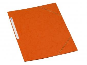 Bantex 3400 Dosky na dokumenty A4 prešpán,3 chlopne s gumičkou, oranžové