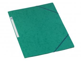 Bantex 3400 Dosky na dokumenty A4 prešpán,3 chlopne s gumičkou, zelené