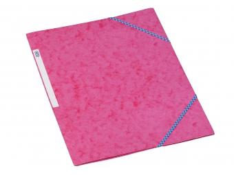 Bantex 3400 Dosky na dokumenty A4 prešpán,3 chlopne s gumičkou, ružové