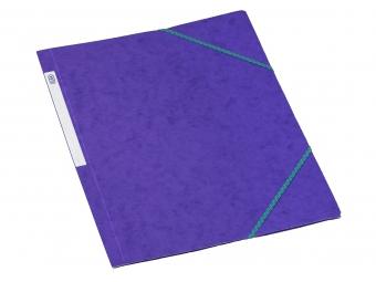 Bantex 3400 Dosky na dokumenty A4 prešpán,3 chlopne s gumičkou, fialové
