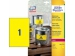 Avery Etikety polyesterové 210x297mm/A4 žlté (bal=20hár)