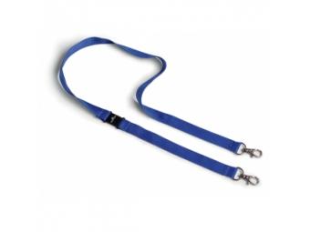 Durable Remienok modrý s 2 karabínkami 20mm (bal=10ks)