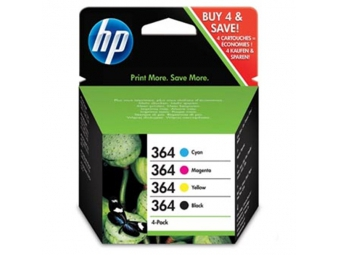HP No.364 Atramentová kazeta Combopack C/M/Y/BK (N9J73AE)