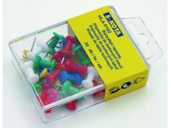 Pripináčiky farebné Push Pins (bal=30ks)