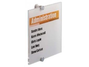 Durable Informačná tabuľka Crystal Sign 210x210mm