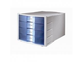 HAN Zásuvkový box Impuls zatvorený sivo/priehľ.modrý