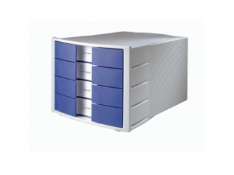 HAN Zásuvkový box Impuls zatvorený sivo/modrý