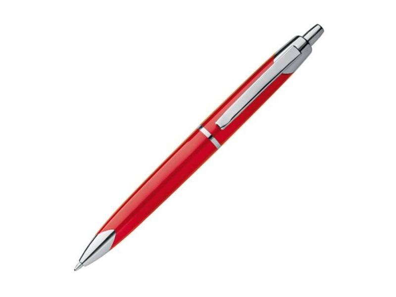 P541.583 Guľôčkové pero klasické, červené (modrá náplň)