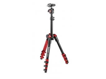 Manfrotto MKBFR1A4R-BH BeFree One hliníkový statív s guľovou hlavou, červená