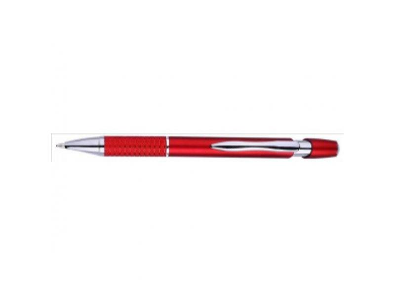 P544.186 Guľôčkové pero plast/kov červené (modrá náplň)