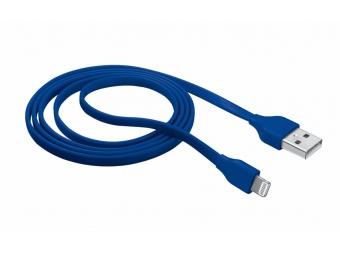 TRUST Flat Lightning kábel modrý - 1m