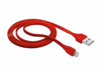 TRUST Flat Lightning kábel červený - 1m