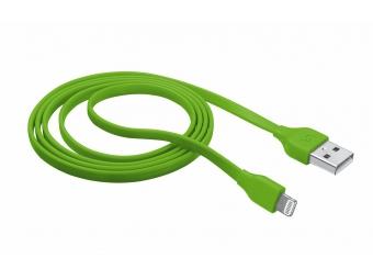 TRUST Flat Lightning kábel zelený - 1m