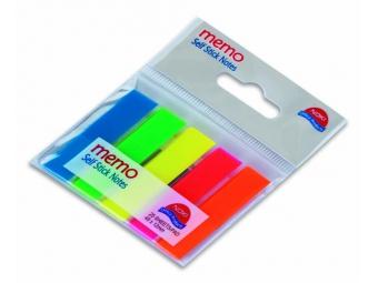 Noki záložky MEMO fóliové samolepiace mix 5 farieb (5x25l)