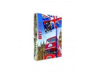 Box na zošity A4 s gumičkou, dizajn Jumbo Londýn