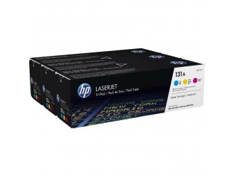 HP U0SL1AM Tonerová kazeta C,M,Y 131A, trojbalenie
