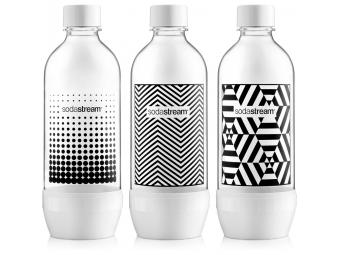 SodaStream fľaša TRIPACK black-white 1l