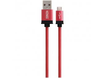 Yenkee USB prepojovací kábel, USB-A - Micro USB 1 m červený