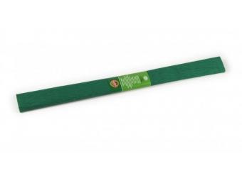 Krepový papier 50x200cm tmavo zelený