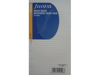 FiloFAX Náhradná náplň do osobného diára A6,linajková biela (bal=100listov)