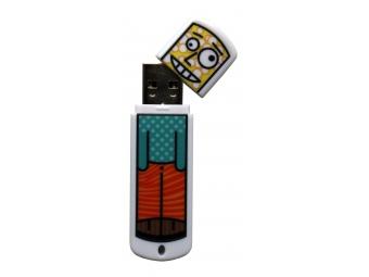 USB kľúč 8GB 2.0 s UV potlačou, plast s vrchnákom