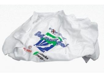 Potlač fóliou/biely textil prinesený zákazníkom, polyester