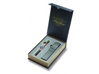 Parker URBAN Premium Metallic Pink, guličkové pero + puzdro