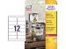 Avery Etikety polyesterové 99,1x42,3 mm biele (bal=20 hár)